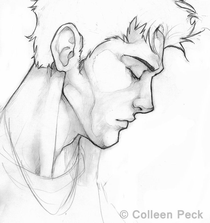 Male Profile Drawing
