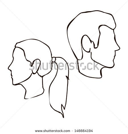 450x470 Man Face Profile Stock Vectors Amp Vector Clip Art Shutterstock