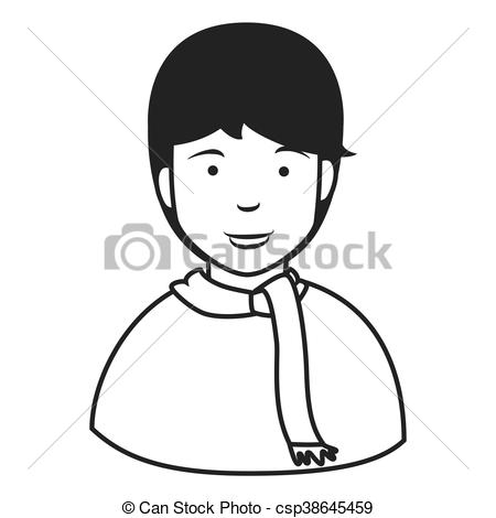 450x470 Young Male Profile Icon. Young Male Profile , Isolated Flat