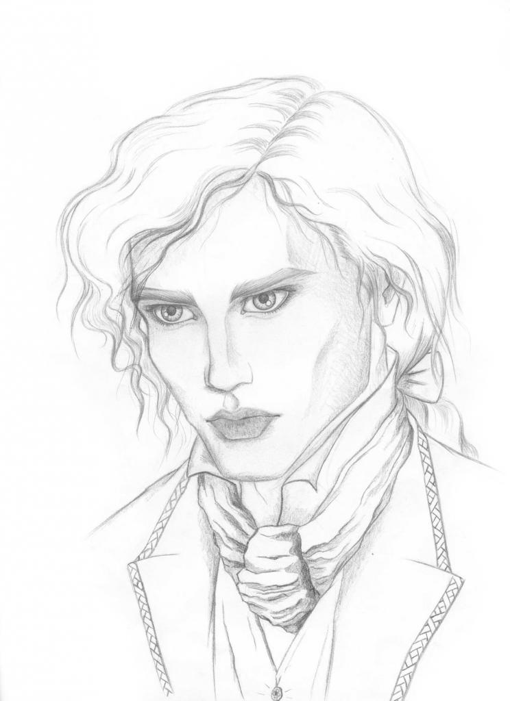 744x1024 Vampire Pencil Drawings Vampire Lestat Izabelaciesinska