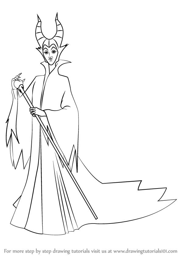 598x844 Learn How To Draw Maleficent From Kingdom Hearts (Kingdom Hearts