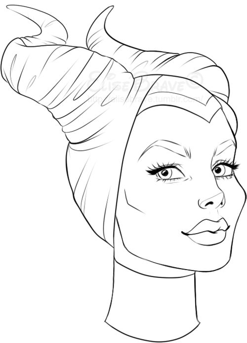 Maleficent Coloring Pages LineArt Fables 500x696 Disney Princess Pinterest