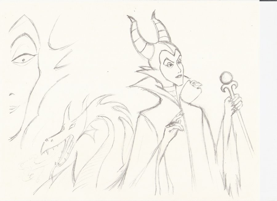 Kingdom Hearts Lineart : Maleficent drawing at getdrawings.com free for personal use