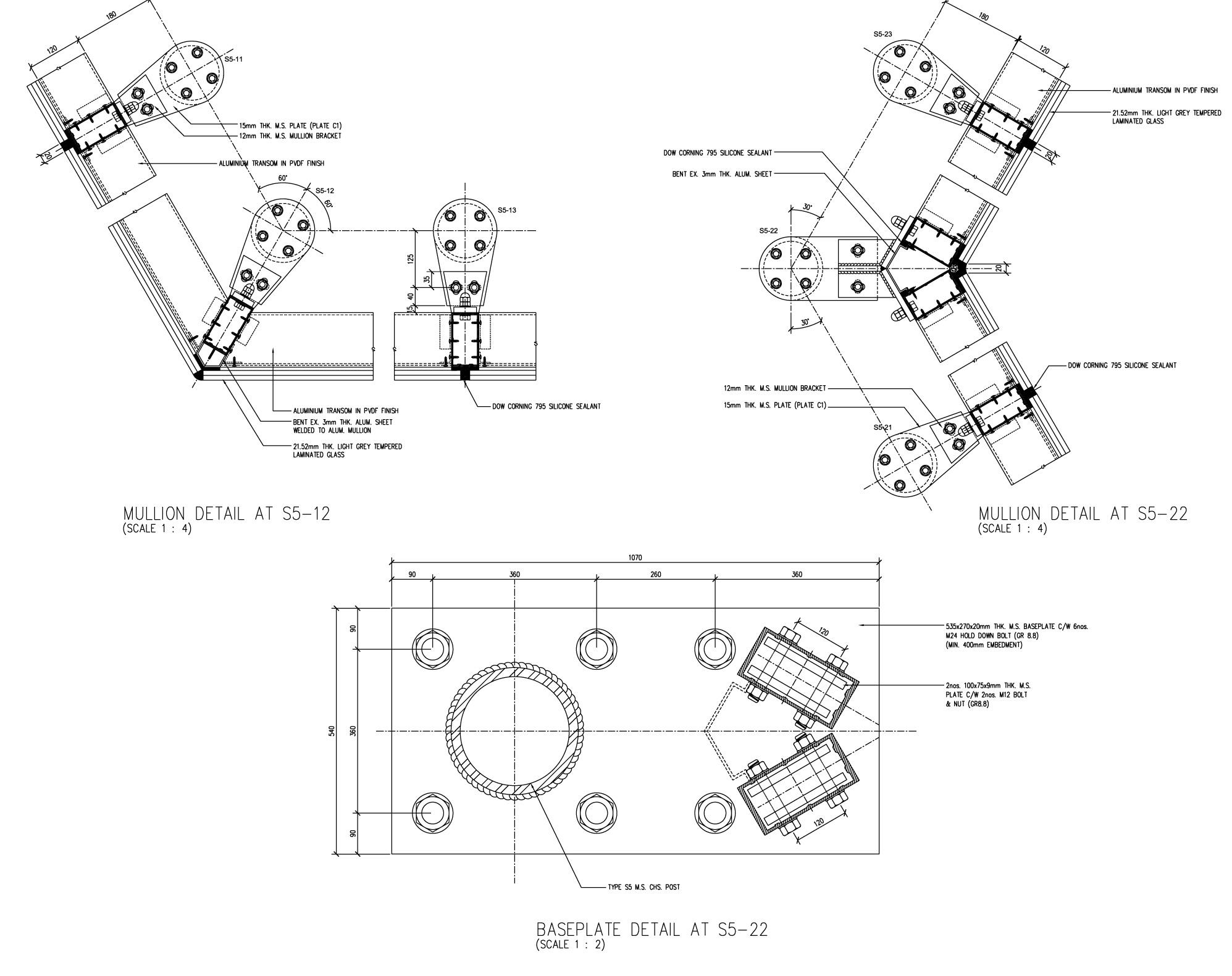 1995x1581 1 Mont' Kiara Retail Mall Sparch Detail Drawing Dl Detail