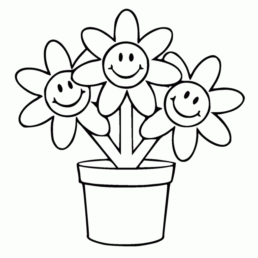 1024x1024 Flower Pot To Draw Step By Step Flower Pot Easy Drawing Flower Pot