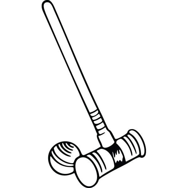 600x600 Croquet Mallet Outdoor Recreation Graphic For Custom Gifts