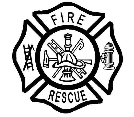 570x495 Fire Emt Rescue Firefighter Maltese Cross Vinyl Decal Custom