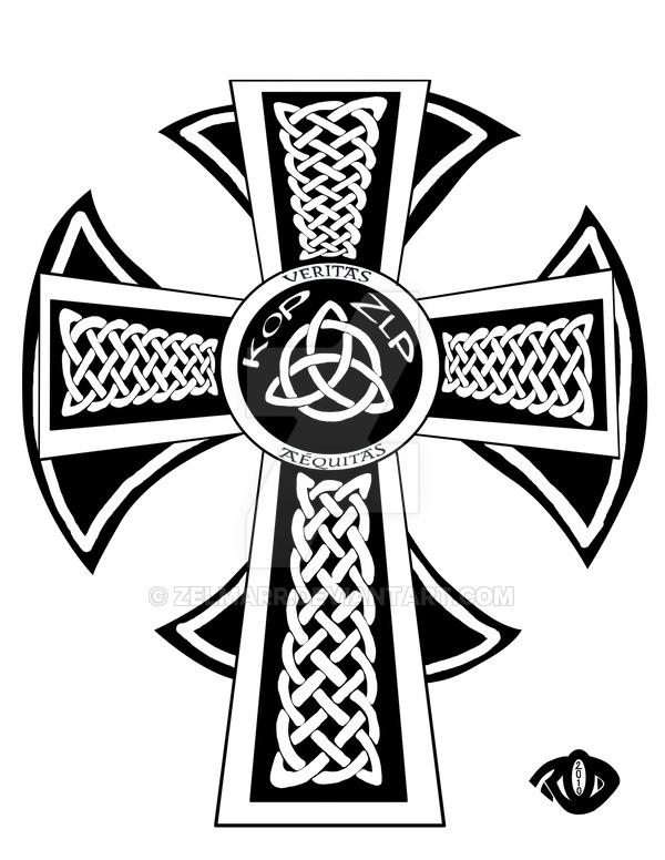 600x776 Celtic Maltese Cross Commish By Zelmarr