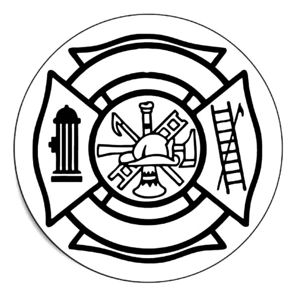 600x600 Drawing Fire Department Maltese Cross Coloring Pages Batch