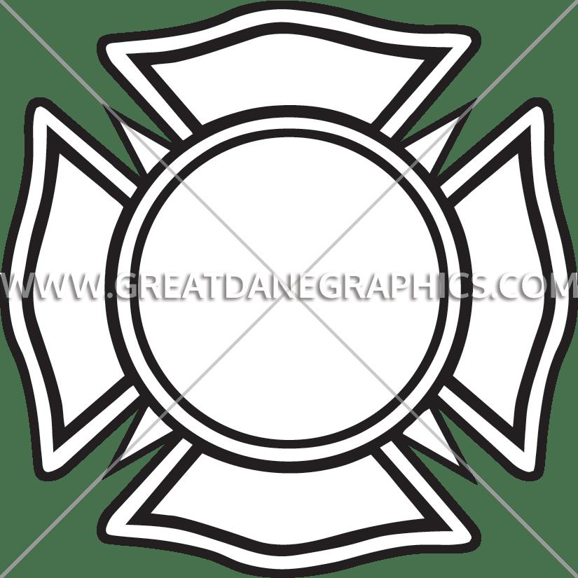 825x825 Emergency Maltese Cross Production Ready Artwork For T Shirt