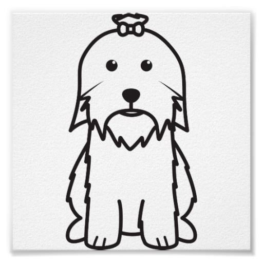 512x512 Maltese Dog Cartoon Posters Maltese Maltese And Dog