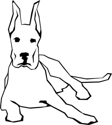 380x425 Simple Drawn Drawing Dog Straight Lines Animal Mammal Vector, Free