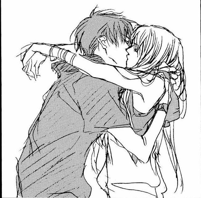 650x638 Girl And Boy Hugging Drawing Images amp Pictures
