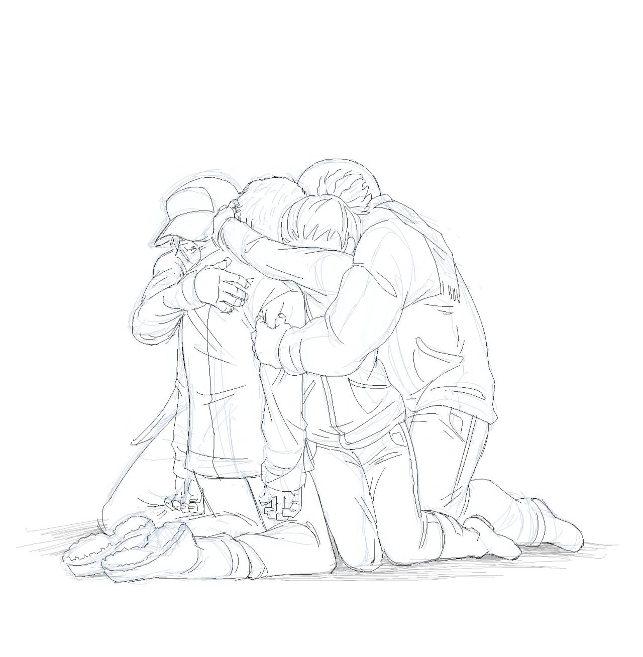 1280x1308 SnufkinWasHere, group hug, group pose