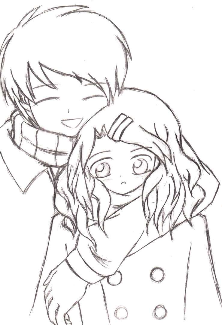 739x1081 A Heartwarming Hug (Sketch 2008) by keymace101 on DeviantArt