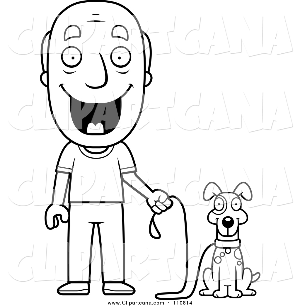 1024x1044 Cartoon Clip Art Of A Lineart Happy Senior Man Ready To Walk His