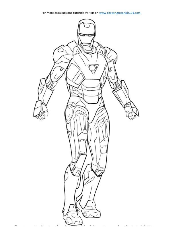638x826 How To Draw Iron Man Sketch