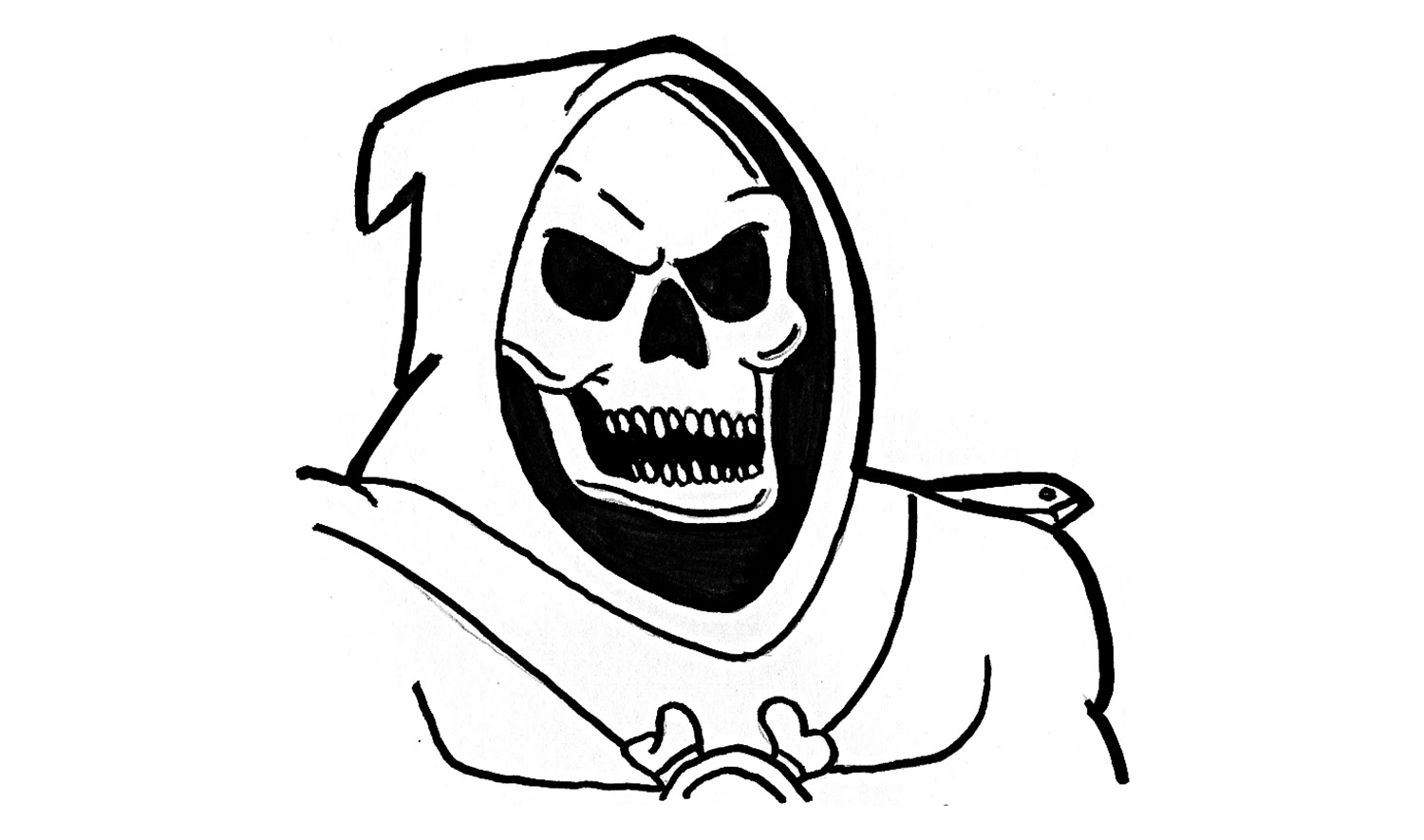 1500x885 How To Draw Skeletor From He Man (Character)