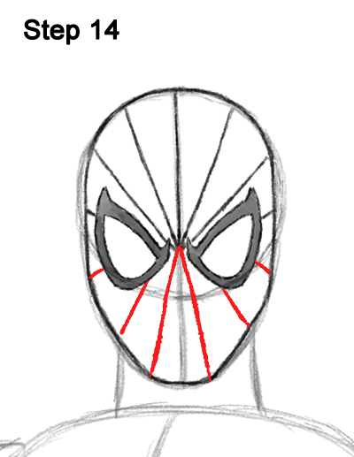 400x517 How To Draw Spider Man (Full Body)