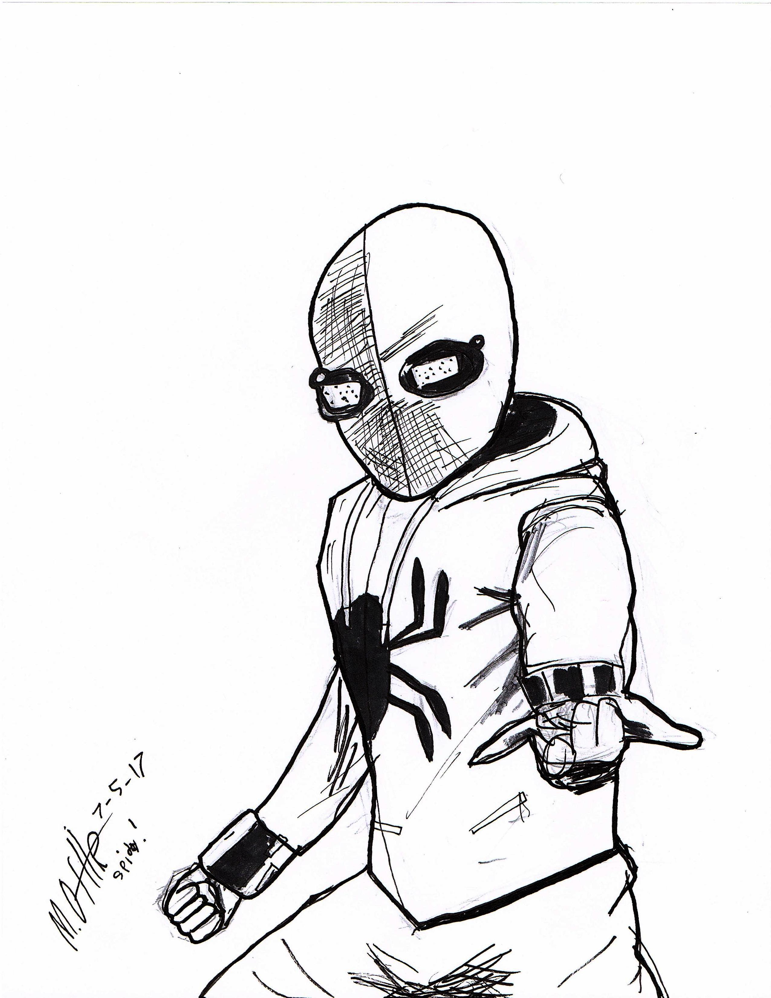 2550x3300 DRAW! EPISODE ONE SPIDER MAN HOMEMADE SUIT FROM SPIDER MAN
