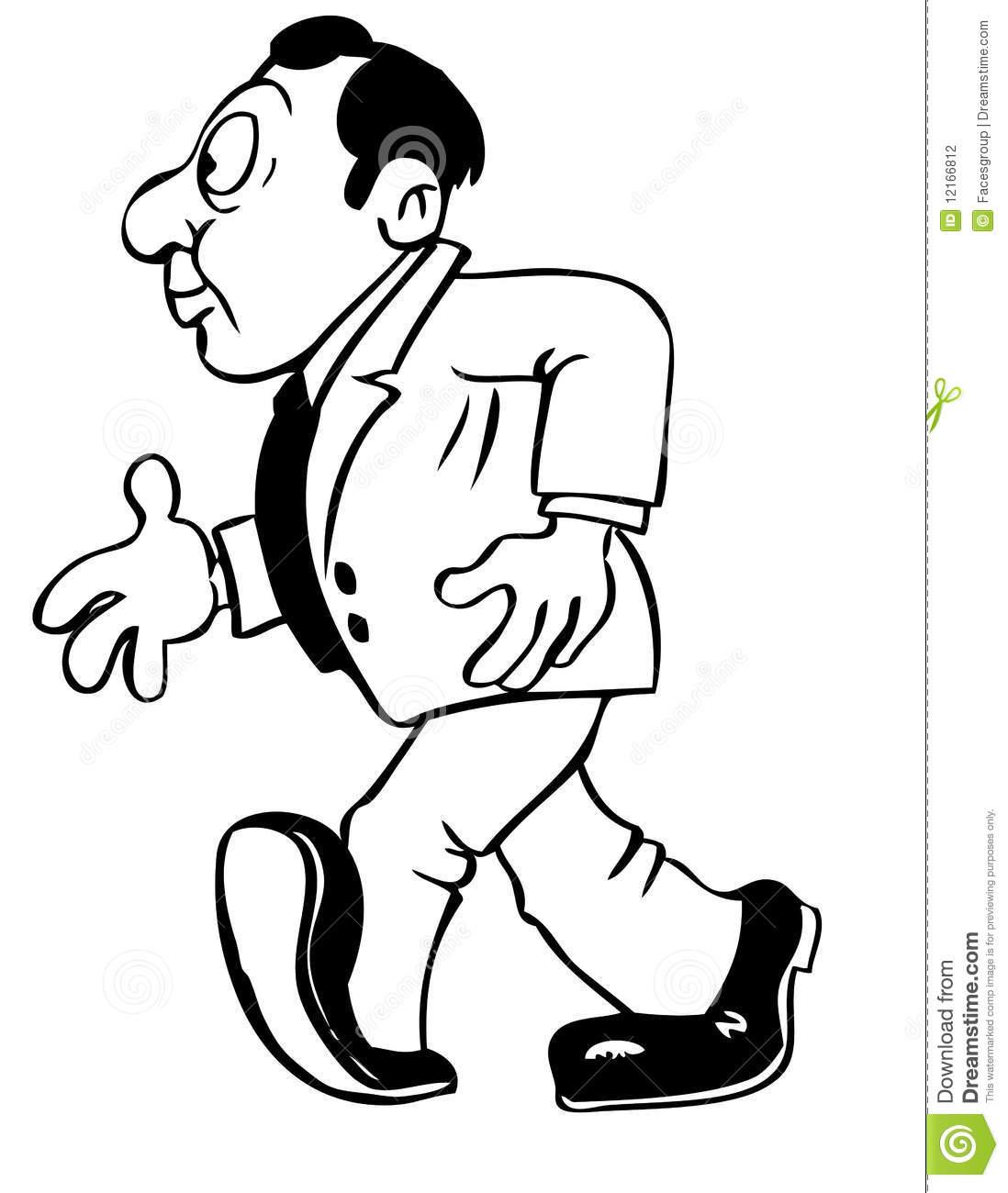 1098x1300 Drawing Cartoon Man Cartoon Drawing Of A Man Stock Vector. Image