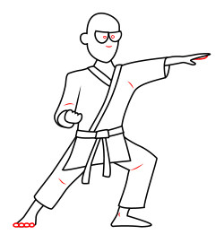 250x271 Drawing A Cartoon Karate Man