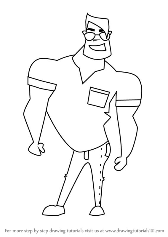 567x800 Learn How To Draw A Funny Cartoon Man (Cartoons For Kids) Step By