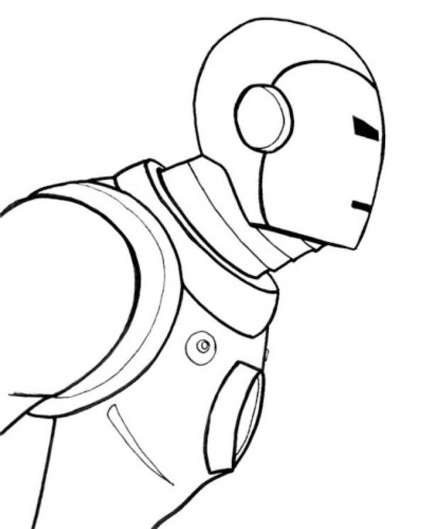 600x744 Easy Iron Man 3 Coloring Pages For Kids