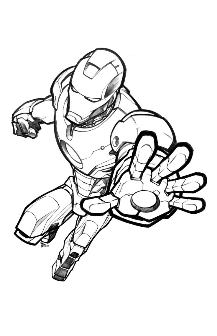 736x1137 Iron Man Drawing