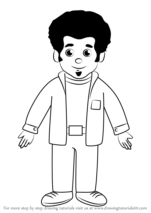 600x846 Learn How To Draw Music Man Stan From Daniel Tiger's Neighborhood