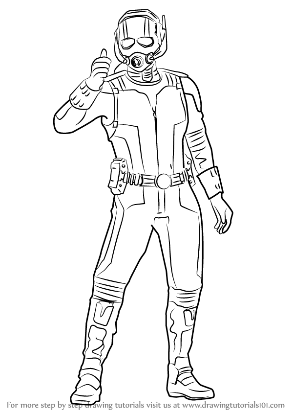600x846 Learn How To Draw Ant Man From Captain America Civil War (Captain
