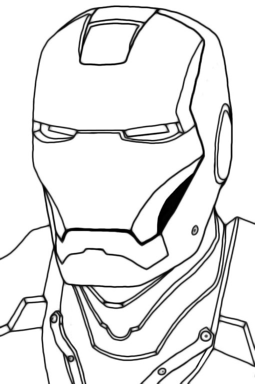 510x768 Iron Man Face Coloring Pages