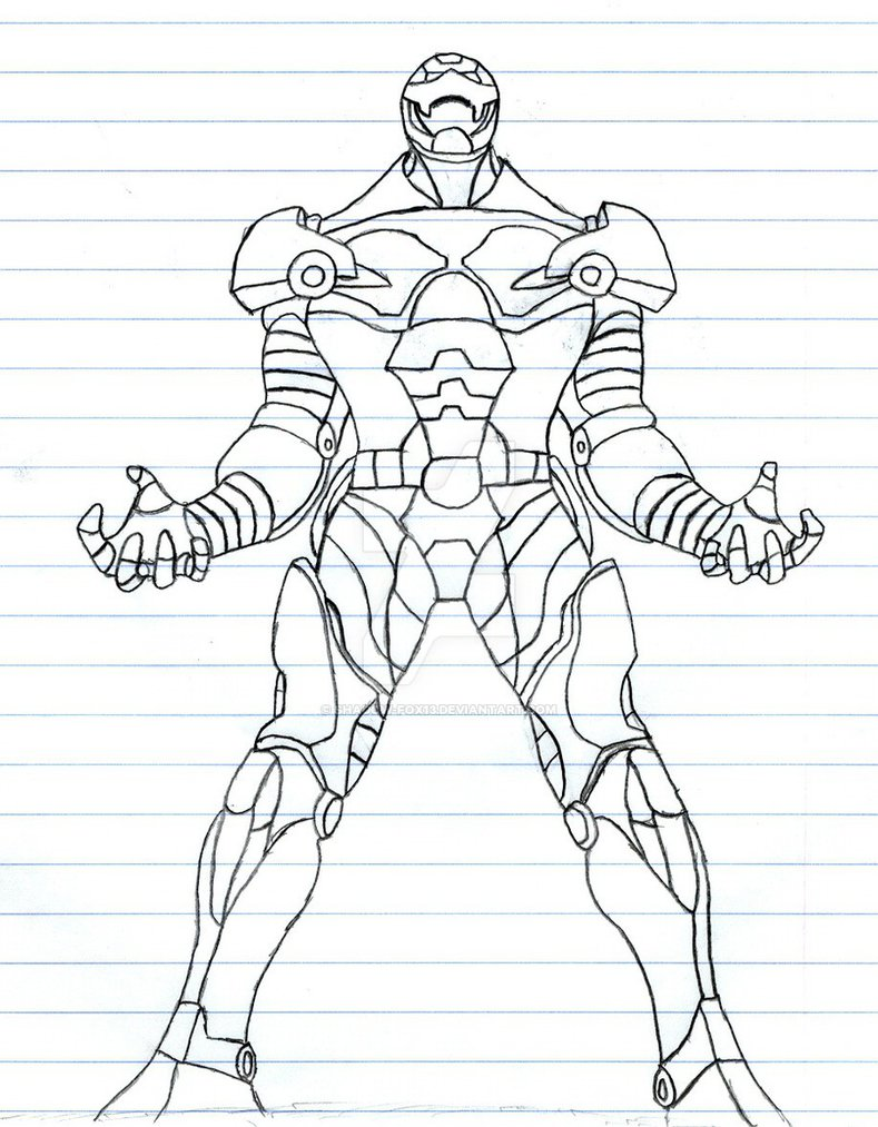 789x1013 Iron Man Rough Outline By Shadow Fox13