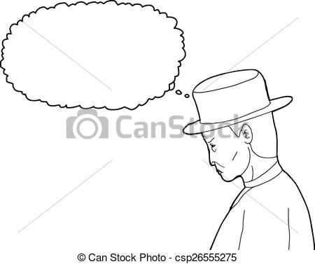 450x377 Outline Of Old 1920's Man. Outline Cartoon Of 1920s Man