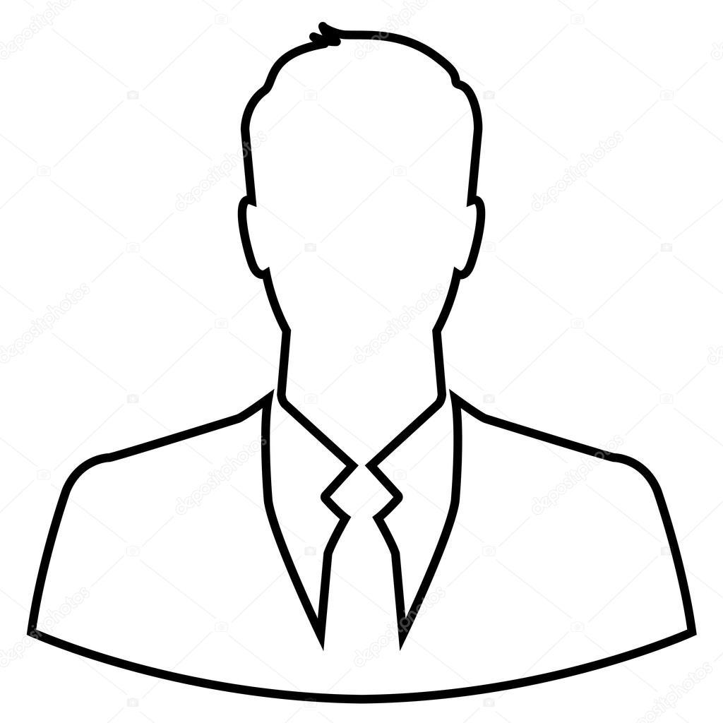1024x1024 Person Outline Drawing Clipart