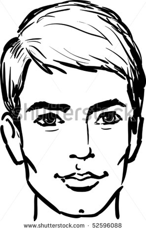 296x470 Outline Drawing Man Face
