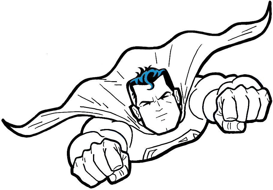910x632 How To Draw Superman From Dc Comics In Easy Step By Step Drawing