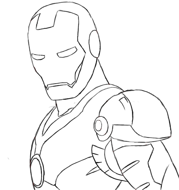 625x665 How To Draw Iron Man