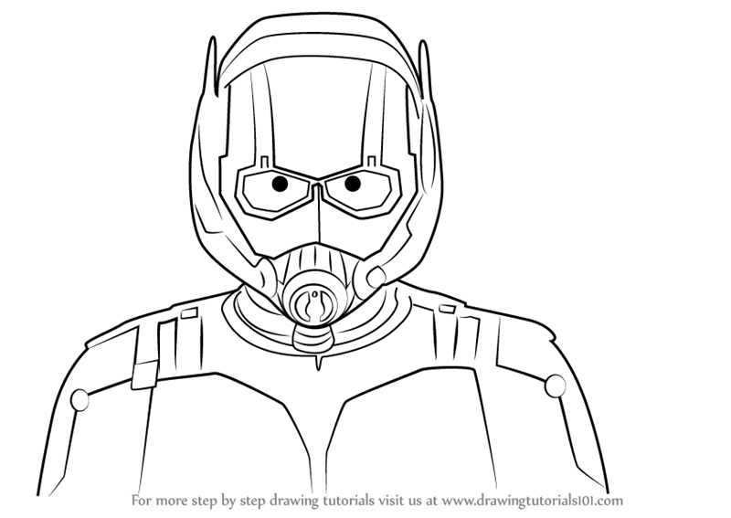 800x567 Learn How To Draw Ant Man Face (Marvel Comics) Step By Step
