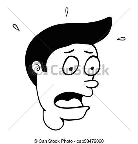 450x470 Surprise Face Cartoon. Simple Cartoon Of A Man With Clip Art