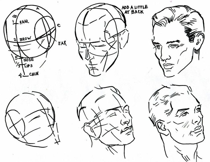 Man Face Drawing Step By Step