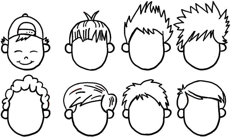 800x475 How To Draw Boys And Mens Hair Styles For Cartoon Characters