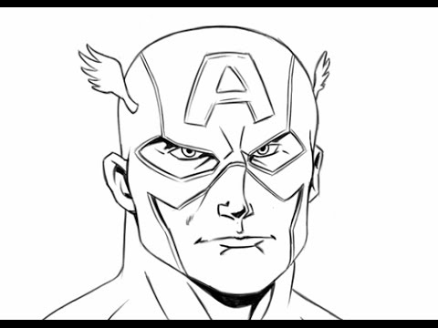 480x360 How To Draw Captain America, Step By Step, Easy