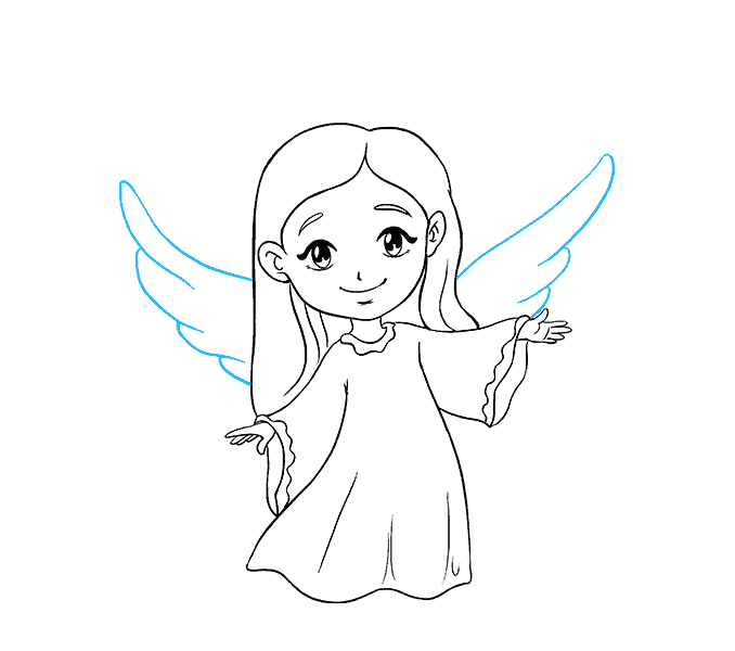 678x600 How To Draw An Angel In A Few Easy Steps Easy Drawing Guides