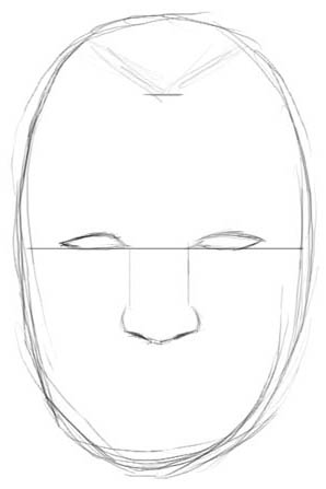 298x447 How To Draw Realistic Faces (Male)