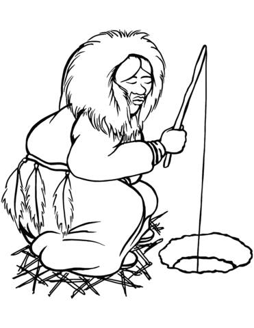 371x480 Eskimo Fishing Coloring Page Free Printable Coloring Pages