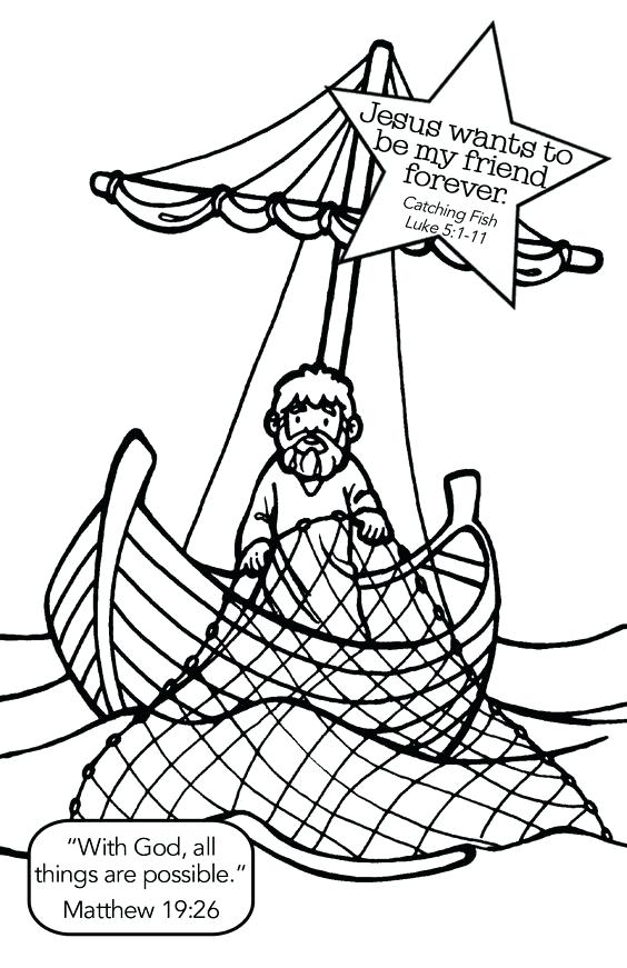 564x871 Fishers Of Men Coloring Page Also Coloring Pages Of Fishing Man 2