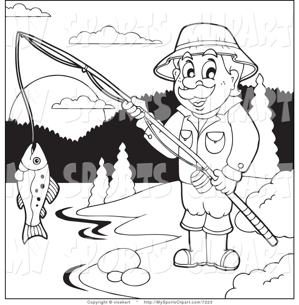 1024x1044 Sports Clip Art Of A Man Fishing