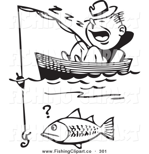 600x620 Clip Art Of A Retro Black And White Man Sleeping In A Boat Missing
