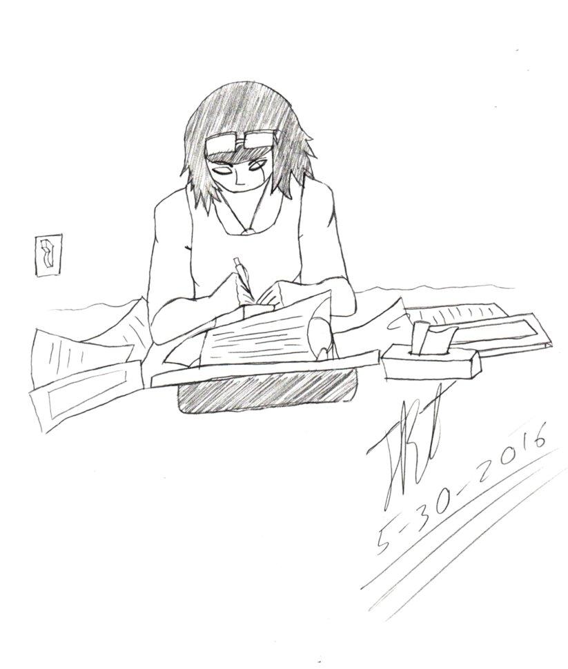 Man In Hoodie Drawing